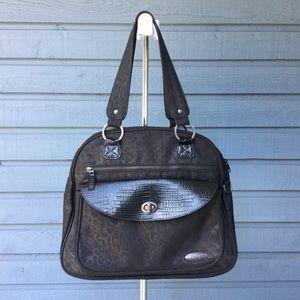 Black Dakine Leopard Print Laptop Carry Bag